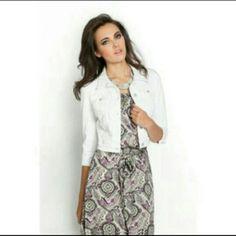 Guess Denim Guess white denim jacket Guess Jackets & Coats Jean Jackets