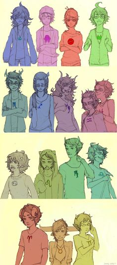Homestuck Beta cast genderbend