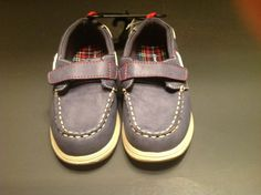 HEALTHTEX BOYS TODDLER VELCRO BOAT SHOES NAVY BLUE SIZE 11 NWT #Healthtex #CasualShoes