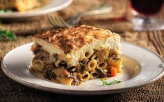 Αγιορείτικο νηστίσιμο παστίτσιο με μανιτάρια αντί για κιμά, που γίνεται καλύτερο από το κανονικό Greek Recipes, Vegan Recipes, Cooking Recipes, Cooking Ideas, Feta, Kai, Pasta Dishes, Lasagna, Sandwiches