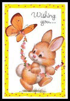 157-GC Ruth Morehead RABBIT Unused Easter Greeting Card | eBay