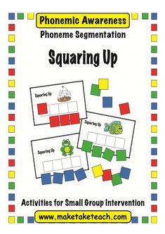 FREE phoneme segmentation game: Squaring Up