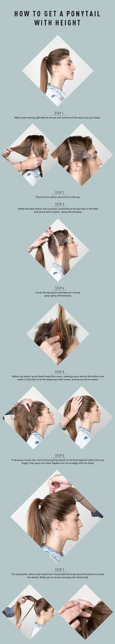 The Secret To Getting More Volume in Your Ponytail - so much more easier than I thought! Easy Casual Hairstyles, Casual Updo, Ponytail Hairstyles, Diy Hairstyles, Haircuts, Funky Braids, Long Hair Cuts, Long Hair Styles, Bridesmaid Hair Medium Length