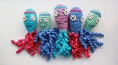 Crochet Octopus: Models That Soothe Premature Babies Crochet Fish, Crochet Octopus, Crochet Bebe, Tunisian Crochet, Filet Crochet, Cute Crochet, Crochet For Kids, Crochet Toys, Octopus Colors