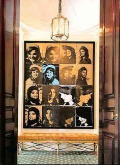 Sixteen Jackies by Andy Warhol, 1966, House & Garden via habitually chic