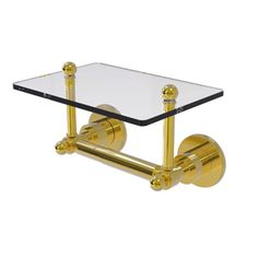 #Brass #TP holder with glass shelf! From Allied Brass; made in USA. Free Shipping!