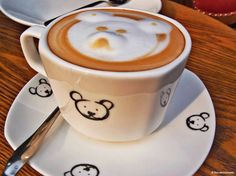 Teddy Bear Cappuccino in a Teddy Bear Restaurant,... - The Café Moments