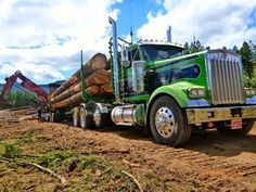 Mighty KENWORTH logging truck
