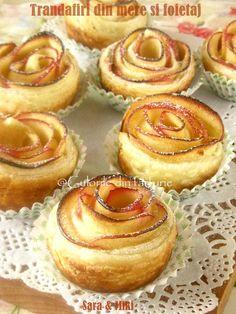 Trandafiri din mere in foietaj este cea mai usoara si rapida placinta cu mere. Doua ingrediente si intr-o ora aveti un desertbun.
