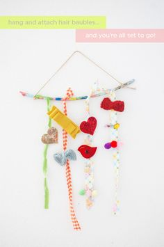 so very colorful hair bauble holder!