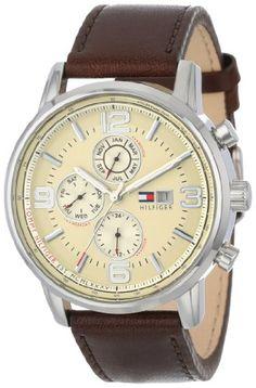 Tommy Hilfiger Mens 1710337 Stainless Steel Brown Leather Watch Tommy Hilfiger Must get | Raddest Looks On The Internet: http://www.raddestlooks.net