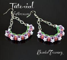 Inflorescence beadwoven earrings tutorial / by BeadedTreasury