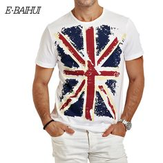 E-BAIHUI 브랜드 남성 의류 남성 슬림 맞춤 t 셔츠 남자 티셔츠 캐주얼 티셔츠 스케이트 보드 약탈 망 티 탑 Y001