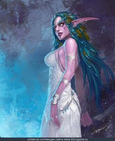 Tyrande Whisperwind - WoWWiki - Your guide to the World of Warcraft World Of Warcraft, Warcraft Art, Warcraft Legion, Fantasy Characters, Female Characters, Fantasy World, Fantasy Art, Elves Fantasy, Fantasy Landscape