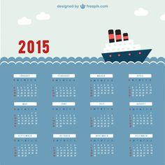 I am loving the nautical themed calendar template!
