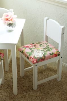 DIY Fancied Up Kids Table and Chairs-Ikea Hack  LOVE this!