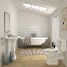 Carlton Traditional 1695mm Double Ended Freestanding Bath Suite At Victorian Plumbing Uk Bathroom