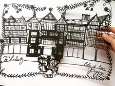"""Everyone loves @libertylondon so here's #myliberty papercut. Hand drawn and hand cut to celebrate #liberty140 in the arts and crafts theme in which is was…"""
