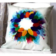 Bright Soft Leaves Ring Cushion Cover