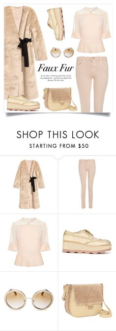 """""""Wow Factor: Faux Fur"""" by alinepinkskirt ❤ liked on Polyvore featuring J Brand, Tanya Taylor, Prada, Dolce&Gabbana and Nu-G"""