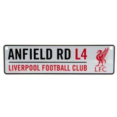 LIVERPOOL FC Official Window Sign Metal Anfield Rd L4 Red Club Crest