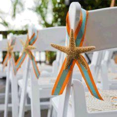 Starfish wedding decor deff different colors! Starfish Wedding Decorations, Church Wedding Decorations, Ceremony Decorations, Invitation Fete, Wedding Planner, Destination Wedding, Beach Ceremony, Wedding Ceremony, Beach Wedding Inspiration