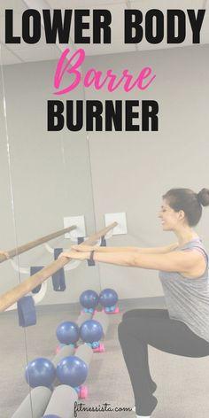 Lower body barre burner. A 10-minute workout video to strengthen the lower body. #barresohard