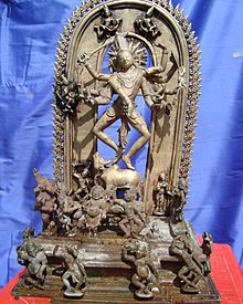 In the Shiva temple of Melakadambur is a rare Pala image that shows the ten-armed Nataraja dancing on his bull.
