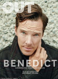 Strike a pose: Benedict puts his matinee idol looks to good use on the publication's striking new cover