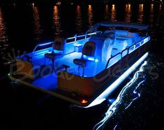 {Overtons 24 Flex Track LED Light Kit For Pontoon Boats - Overton's BoatPlansPontoon Boat Canopy, Pontoon Party, Pontoon Boat Accessories, Boating Accessories, Led Boat Lights, Night Lights, Ski Nautique, Party Barge, Best Boats