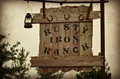 Our sign - Rusty Iron Ranch - Antique Stoves!