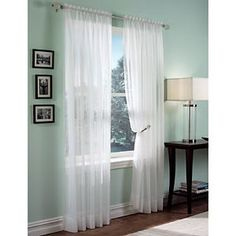 Roma II Voile Sheer Rod Pocket  Panel - 59x95  comes in many colors