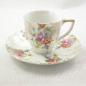Ucagco Floral Occupied Japan Tea Cup and Saucer