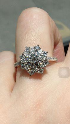 Harry Winston lotus diamond ring
