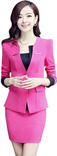 Women's Suiting - Yinxiang Liying Womens Sexy Slim Business Suit Skirt Sets * Continue to the product at the image link. (This is an Amazon affiliate link)