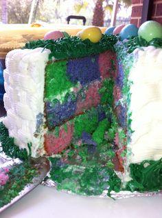 Inside of Easter cake