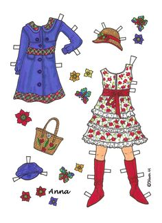 Karen`s Paper Dolls: ︵‿✿ Anna is looking forward to the summer holidays.