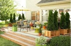 Image result for tall planters for privacy