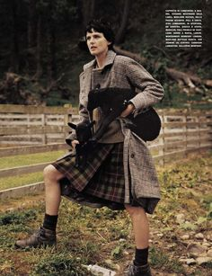 """before you kill us all: EDITORIAL Vogue Italia October 2012 """"A Highland Friendship"""" Feat. Stella Tennant, Lord Colin & Lady Isabella Cawdor by Bruce Weber"""