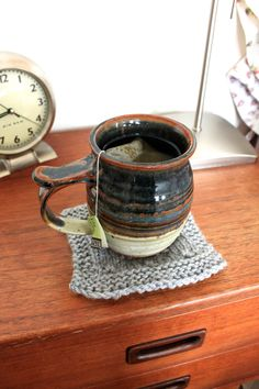 How To Knit A Coaster | Scissors & Sage