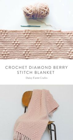 Free Pattern - Crochet Diamond Berry Stitch Blanket
