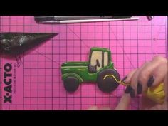 Tractor Cookie Video 720x404 - YouTube tractor cookie decorated cookies john deere