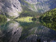 Obersee Lake, Berchtesgaden National Park, Germany