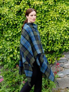 One of our collection of fabulous Throws and blankets by John Hanly & Co. Available in a variety of yarns (lambswool, cashmere, merino), sizes and prices.