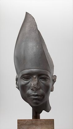 Head of a Statue of Amenemhat III Wearing the White Crown