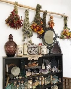 Witchy discovered by TroiAdellaRose on We Heart It Autel Wiccan, Wiccan Decor, Witchcraft, Spiritual Decor, Magick Book, Pagan Altar, Witch Cottage, Witch House, Witch Aesthetic