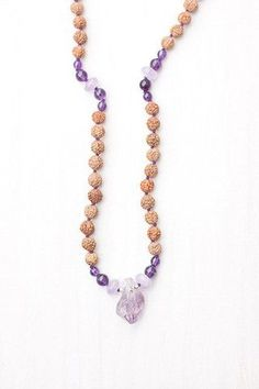 Tranquil Amethyst Mala believed to bring one a true sense of peace.