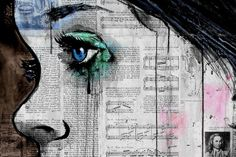 I just ordered three of his...I'm in love.  Loui Jover - painting on newspaper