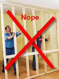 How to build (& not to build) a wall - finishing a basement #basementfinishing
