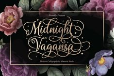 Midnight Vagansa is an elegant script font with a contemporary atmosphere and impeccable form, inspired by timeless classic calligraphy. Not... Calligraphy Fonts, Typography Fonts, Modern Calligraphy, Handwritten Fonts, Linux, Romantic Fonts, Elegant Fonts, Feminine Fonts, Web Design